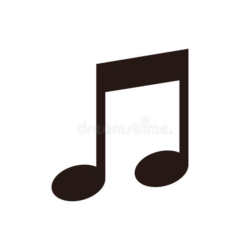 Ícone da nota da música ilustração royalty free
