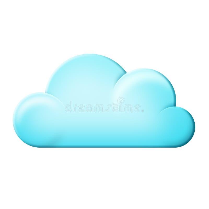 Ícone da nuvem ilustração royalty free