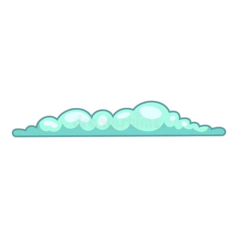 Ícone da nuvem da mola, estilo dos desenhos animados ilustração royalty free