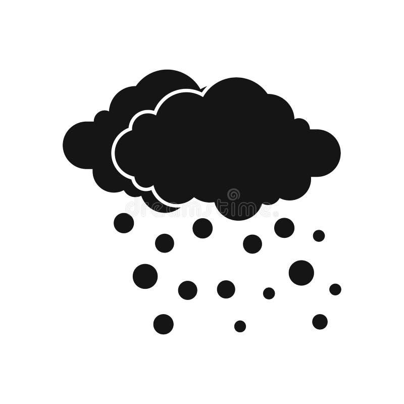 Ícone da nuvem e da neve, estilo simples ilustração stock