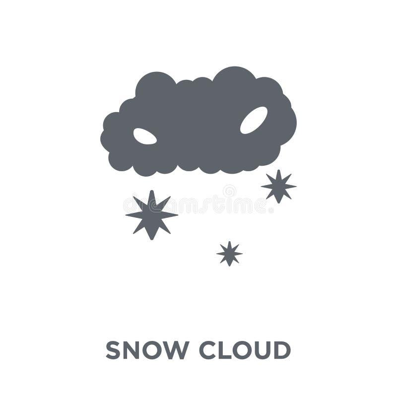 Ícone da nuvem da neve da coleção do tempo ilustração stock