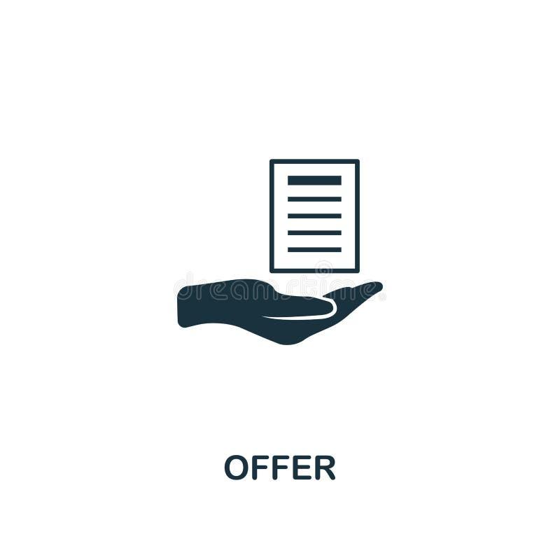 ícone da oferta Projeto criativo do elemento da coleção satisfeita dos ícones Ícone perfeito para o design web, apps da oferta do ilustração royalty free