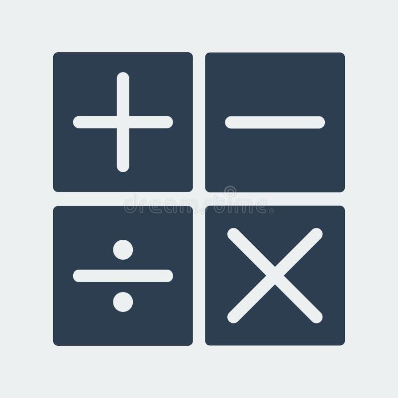 Ícone da operação de aritmética da calculadora Ilustração do vetor ilustração do vetor