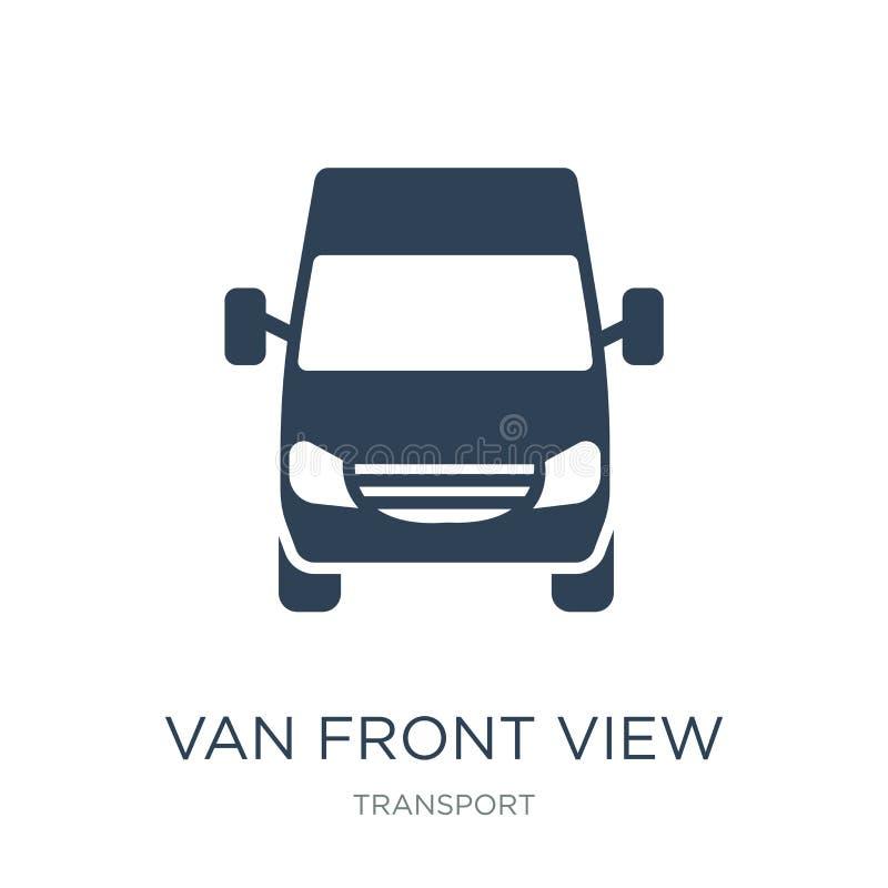 ícone da opinião dianteira da camionete no estilo na moda do projeto ícone da opinião dianteira da camionete isolado no fundo bra ilustração do vetor