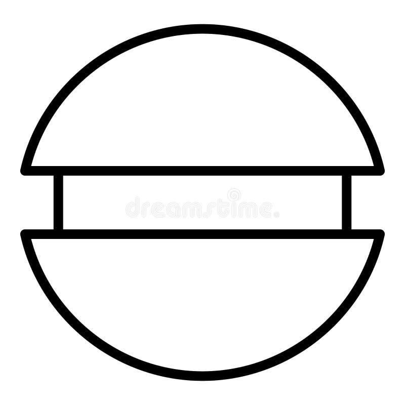 Ícone da opinião superior do parafuso, estilo do esboço ilustração stock