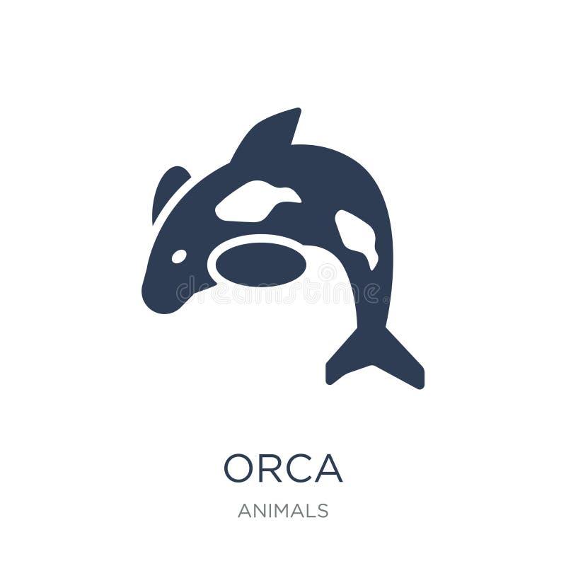 Ícone da orca  ilustração do vetor