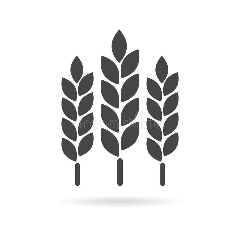 Ícone da orelha do trigo ilustração royalty free