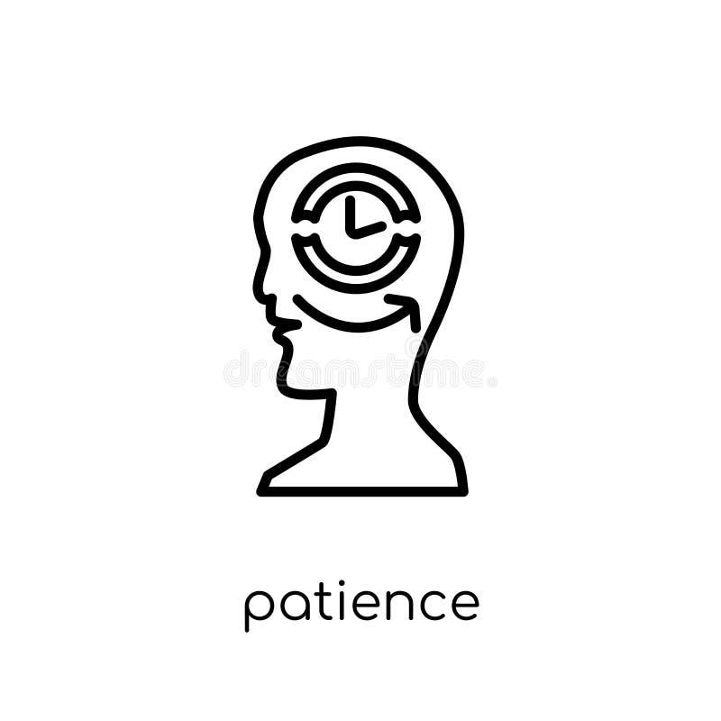 ícone da paciência Ícone linear liso moderno na moda da paciência do vetor sobre ilustração stock