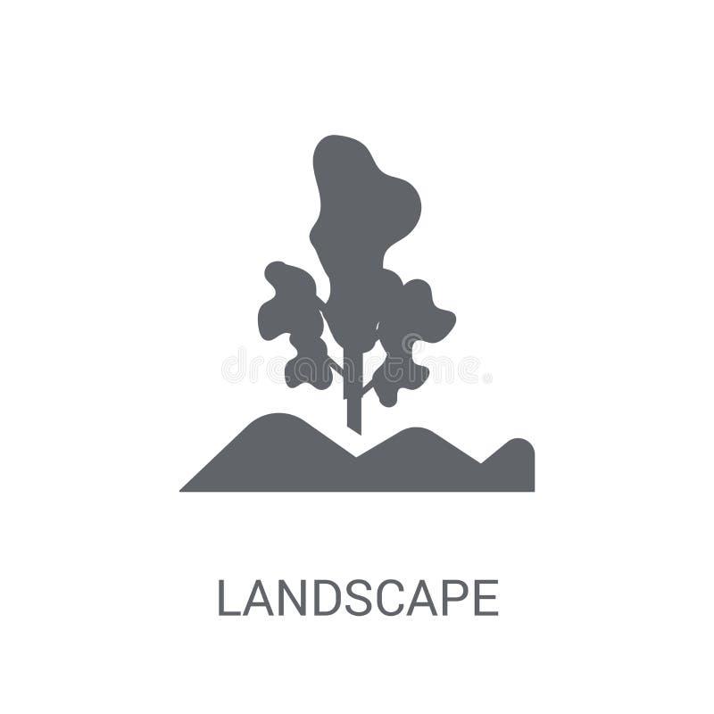Ícone da paisagem  ilustração stock