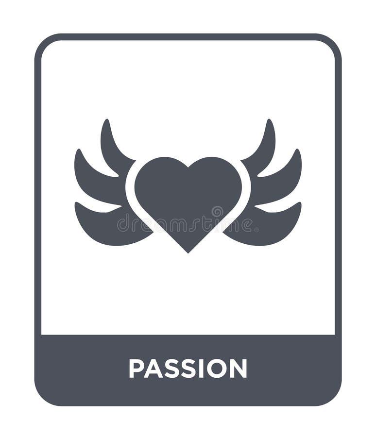 ícone da paixão no estilo na moda do projeto ícone da paixão isolado no fundo branco símbolo liso simples e moderno do ícone do v ilustração do vetor