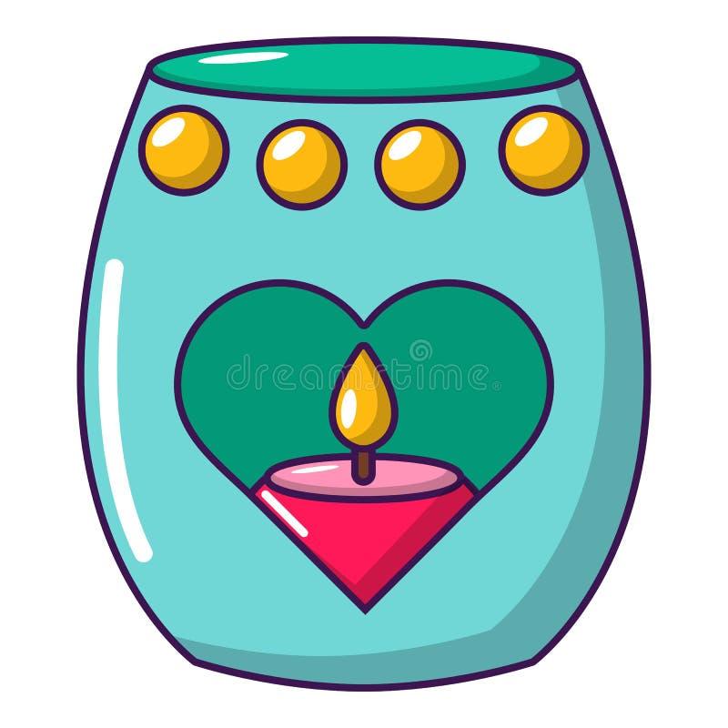 Ícone da paixão da vela, estilo dos desenhos animados ilustração stock