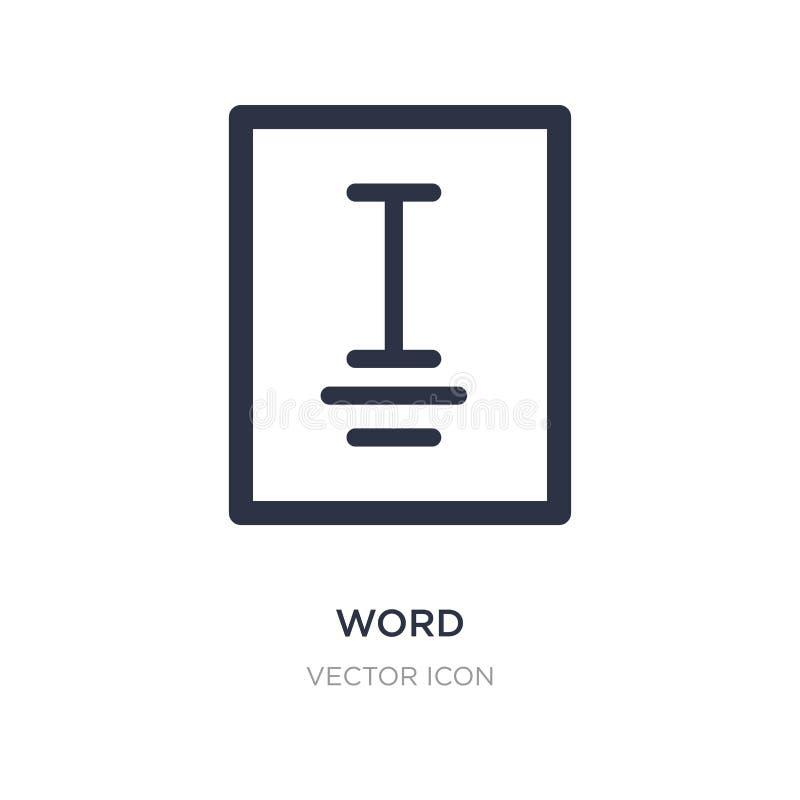 Ícone da palavra no fundo branco Ilustração simples do elemento do conceito do cursor ilustração royalty free
