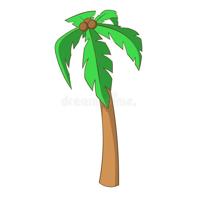 Ícone da palma, estilo dos desenhos animados ilustração stock
