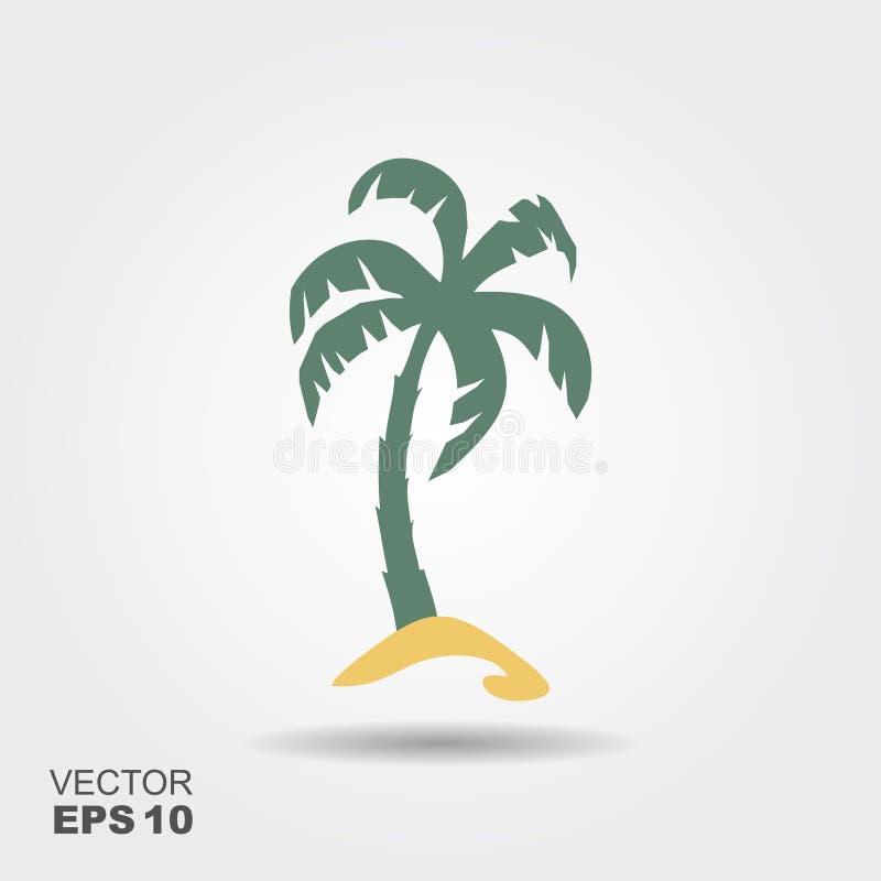 Ícone da palmeira ilustração do vetor