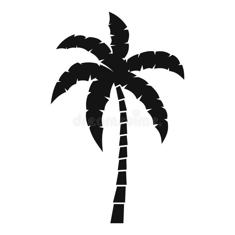 Ícone da palmeira, estilo simples ilustração royalty free