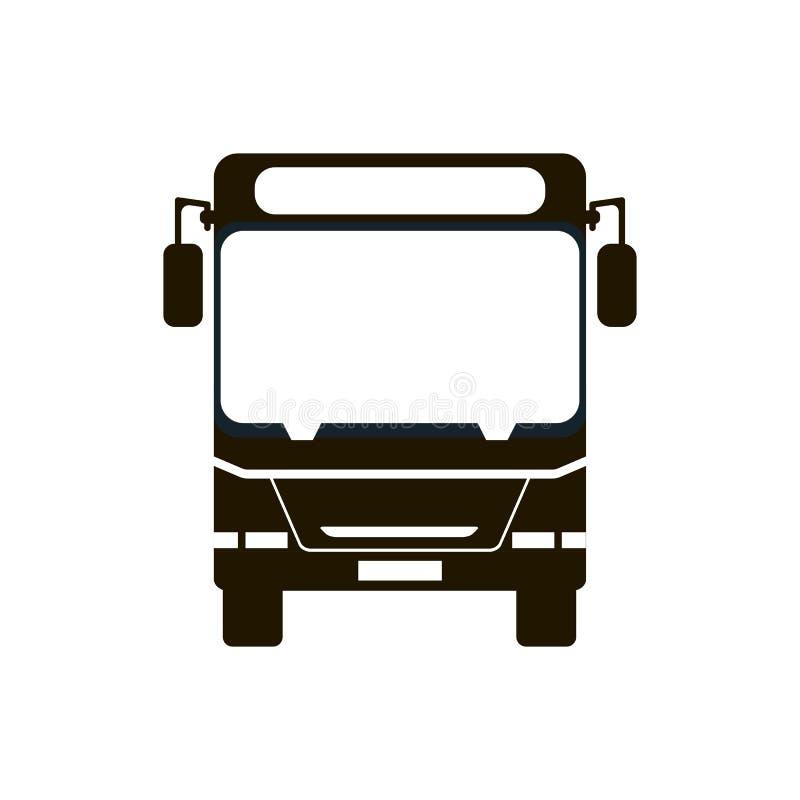 Ícone da parada do ônibus ilustração stock