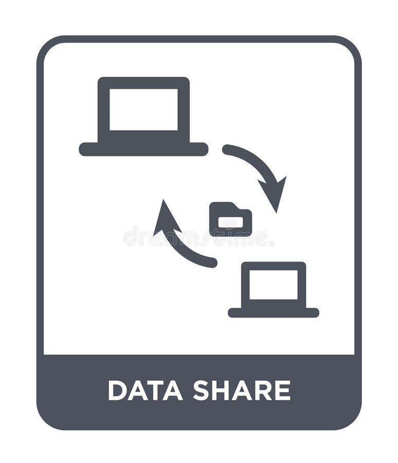 ícone da parte dos dados no estilo na moda do projeto os dados compartilham do ícone isolado no fundo branco ícone do vetor da pa ilustração royalty free