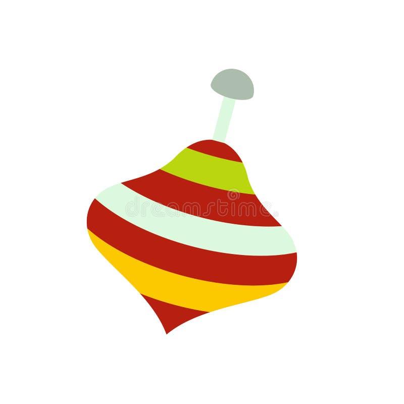 Ícone da parte superior de giro do brinquedo ilustração do vetor
