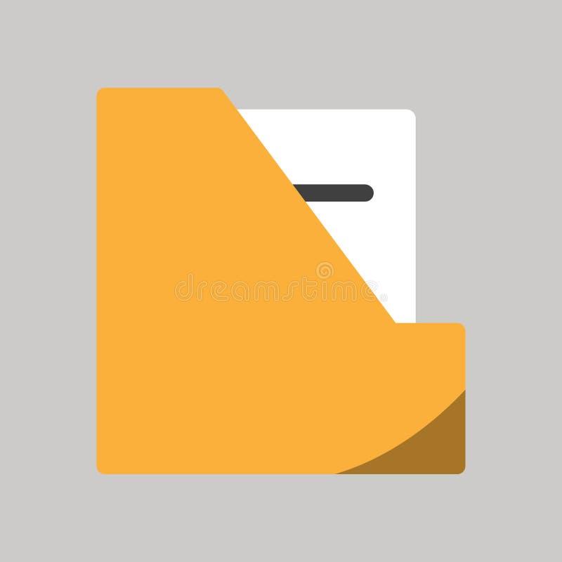 Ícone da pasta de arquivos do negócio no projeto liso ilustração do vetor
