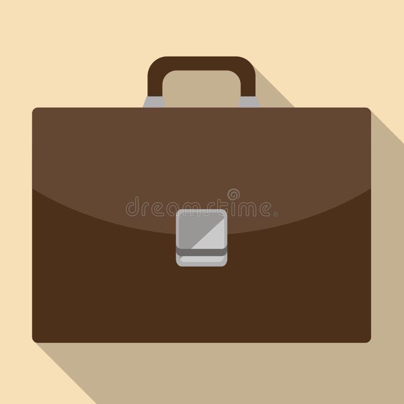 Ícone da pasta do marrom do vetor no estilo liso ilustração do vetor