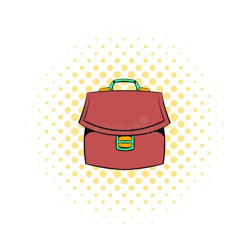 Ícone da pasta do negócio de Brown, estilo da banda desenhada ilustração stock
