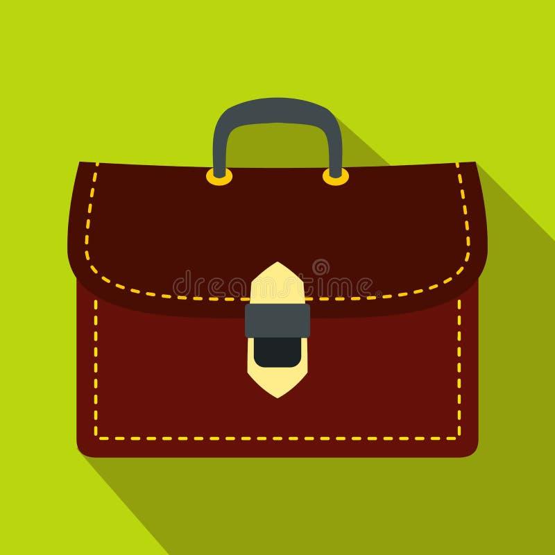 Ícone da pasta do negócio de Brown, estilo liso ilustração stock