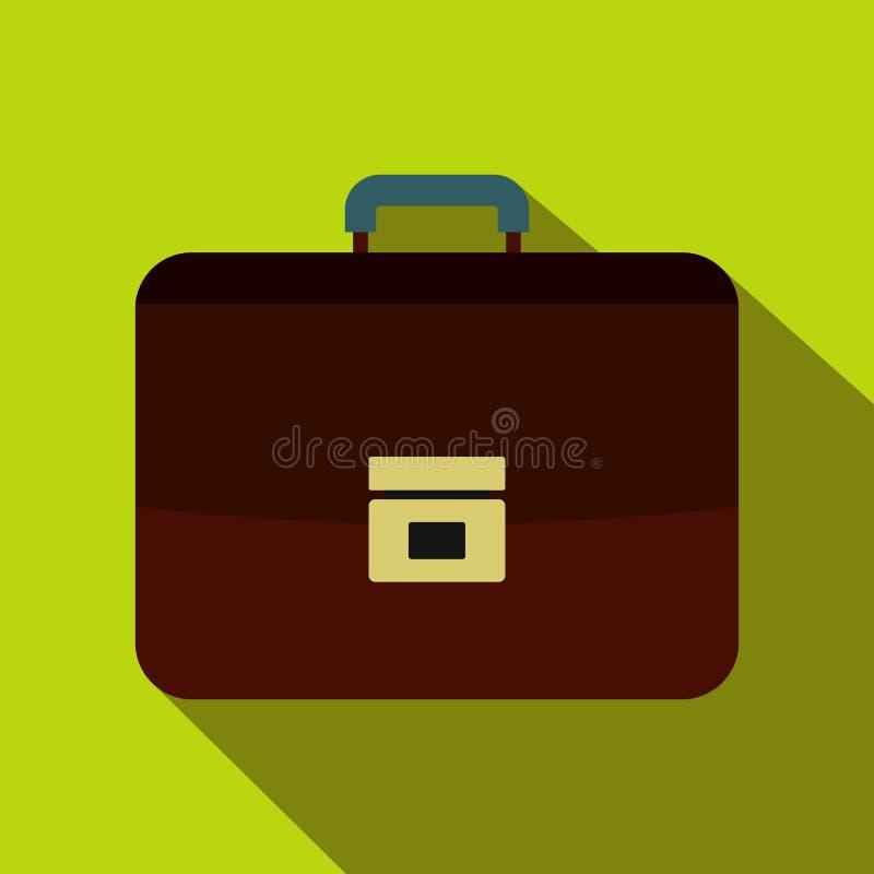 Ícone da pasta do negócio de Brown, estilo liso ilustração do vetor