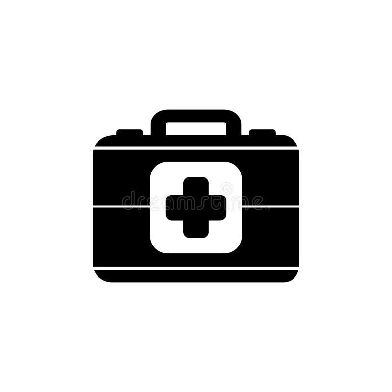 Ícone da pasta da medicina ilustração do vetor
