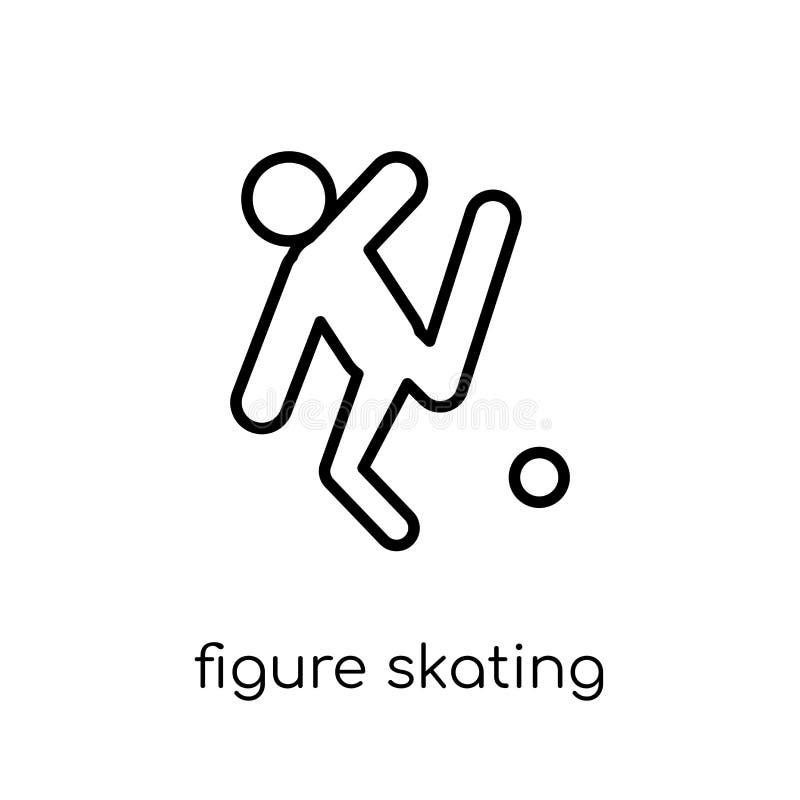 Ícone da patinagem artística Figura linear lisa moderna na moda ska do vetor ilustração do vetor