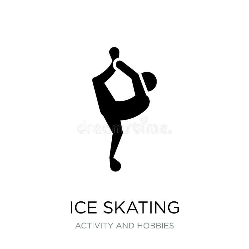 ícone da patinagem no gelo no estilo na moda do projeto ícone da patinagem no gelo isolado no fundo branco ícone do vetor da pati ilustração do vetor