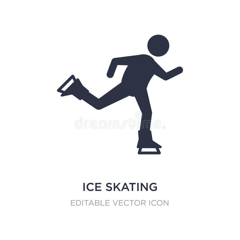 ícone da patinagem no gelo no fundo branco Ilustração simples do elemento do conceito dos esportes ilustração stock