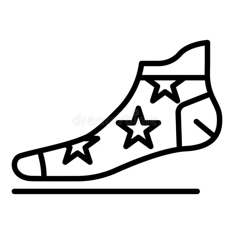 Ícone da peúga da estrela, estilo do esboço ilustração royalty free