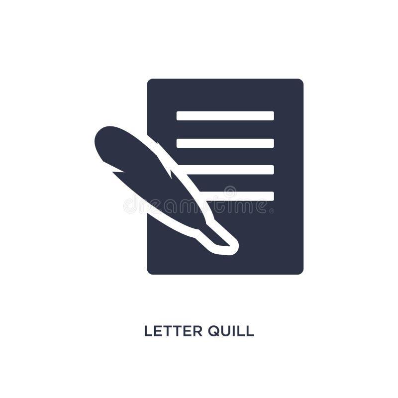 ícone da pena da letra no fundo branco Ilustração simples do elemento do conceito de greece ilustração do vetor