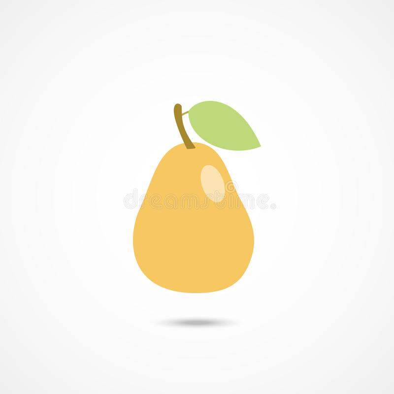 Ícone da pera no branco ilustração royalty free