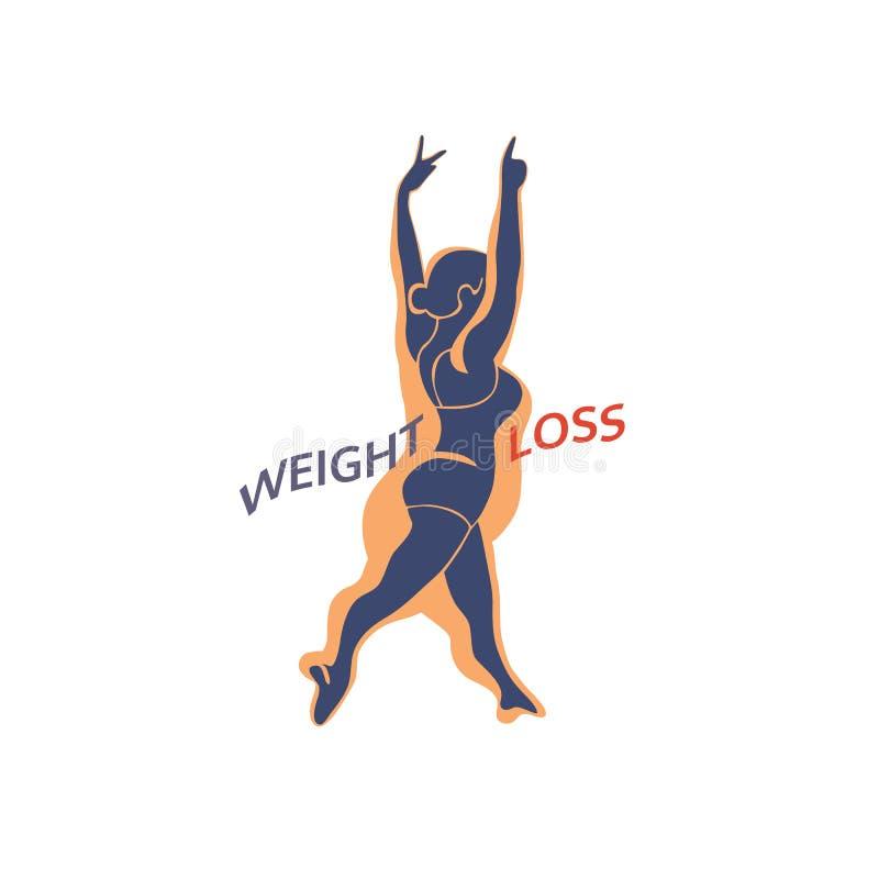 Ícone da perda de peso ilustração royalty free