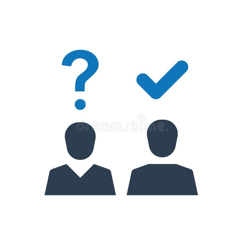 Ícone da pergunta e resposta ilustração stock