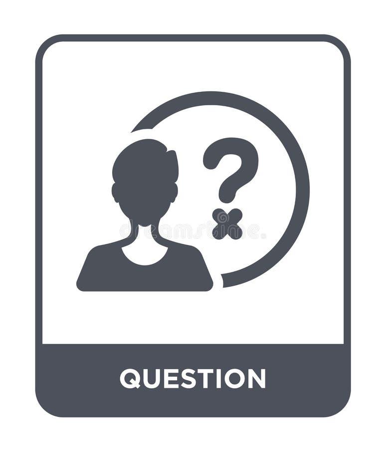 ícone da pergunta no estilo na moda do projeto Ícone da pergunta isolado no fundo branco plano simples e moderno do ícone do veto ilustração stock
