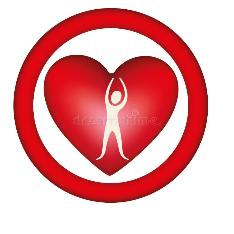 ícone da pessoa do coração do símbolo ilustração stock