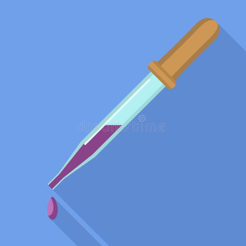 Ícone da pipeta do sangue, estilo liso ilustração royalty free