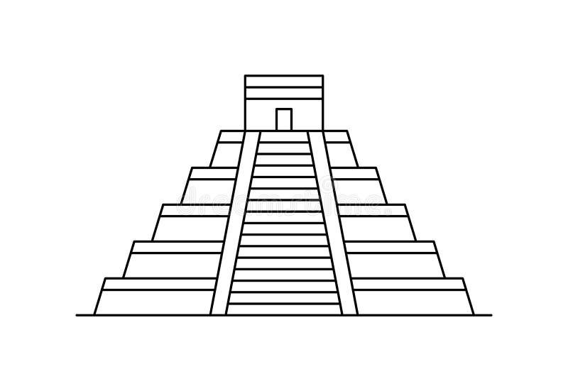 Ícone da pirâmide do Maya ilustração do vetor