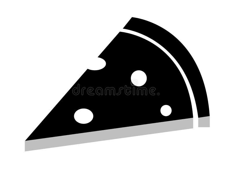Ícone da pizza no estilo liso na moda no fundo branco ilustração stock