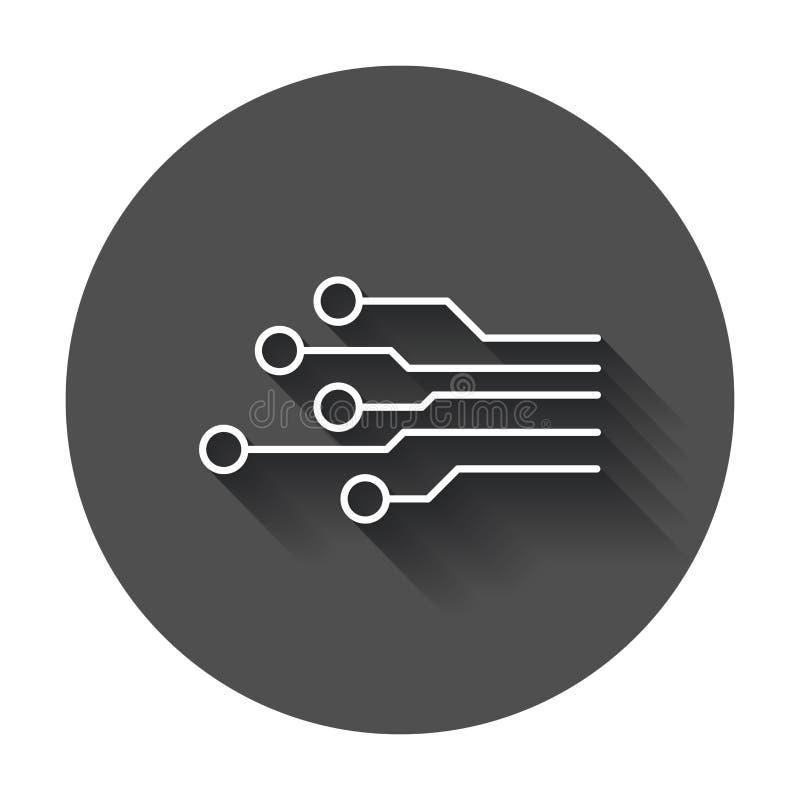 Ícone da placa de circuito ilustração royalty free