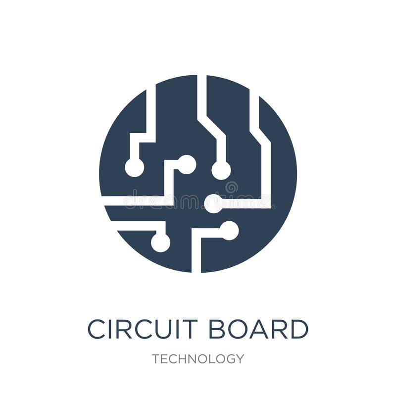 ícone da placa de circuito no estilo na moda do projeto ícone da placa de circuito isolado no fundo branco ícone do vetor da plac ilustração do vetor