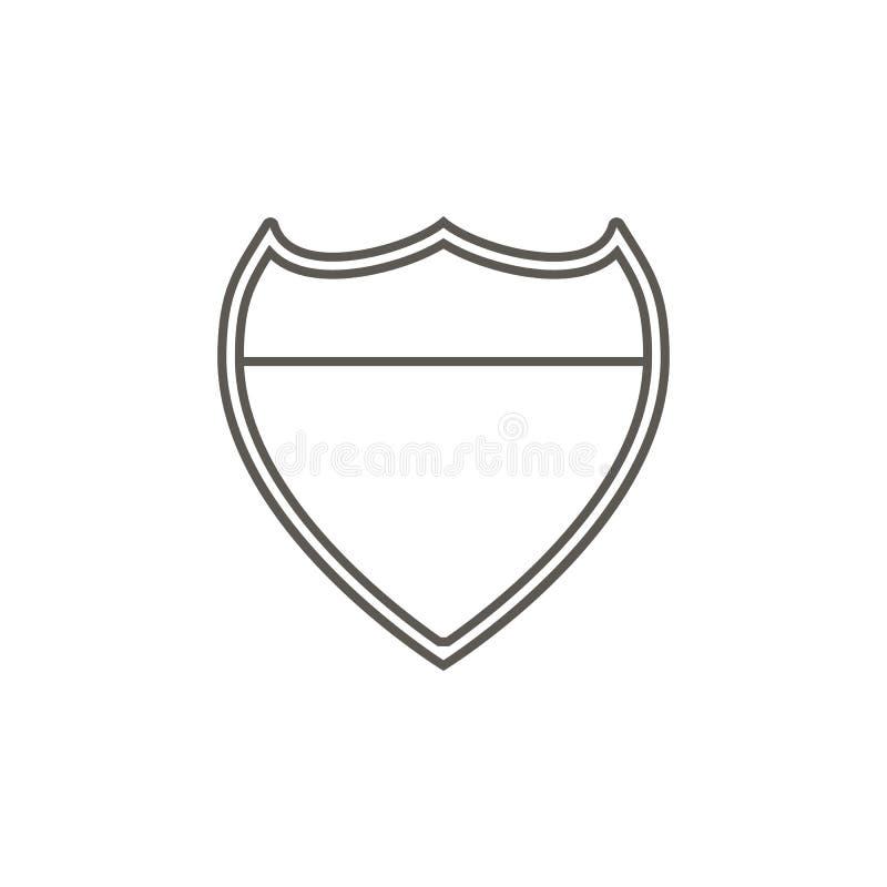 Ícone da placa de metal da polícia Ilustra??o simples do elemento do mapa e do conceito da navega??o Ícone da placa de metal da p ilustração do vetor