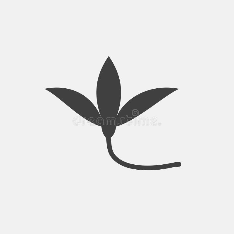 Ícone da planta ilustração stock