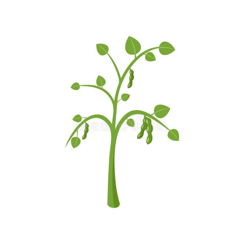 Ícone da planta de ervilhas, estilo liso ilustração stock