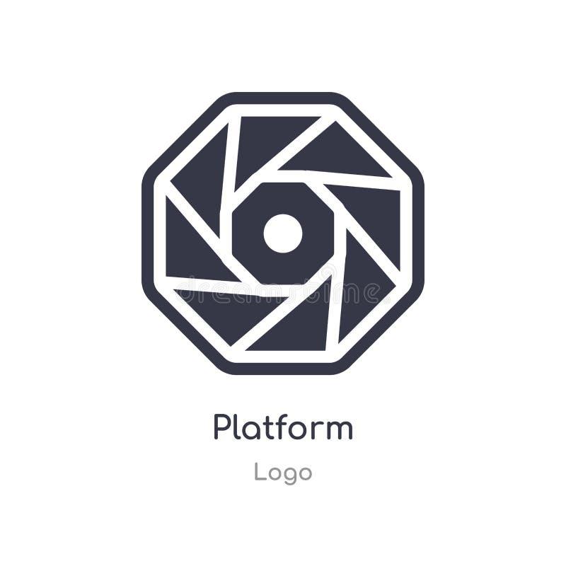 ícone da plataforma ilustração isolada do vetor do ícone da plataforma da coleção do logotipo edit?vel cante o s?mbolo pode ser u ilustração royalty free