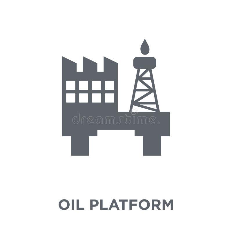 Ícone da plataforma petrolífera da coleção ilustração royalty free