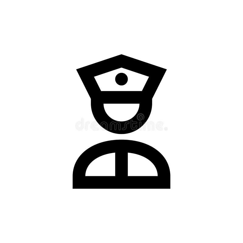 Ícone da polícia Sinal avançado do serviço de segurança ilustração royalty free
