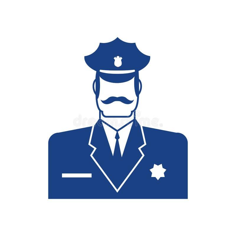 Ícone da polícia Sinal do oficial do polícia Símbolo da bobina ilustração stock